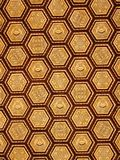 Hexagon ornate golden ceiling pattern Royalty Free Stock Image