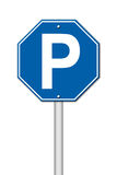 Hexagon parking sign Stock Photo