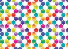 Hexagon patroon Stock Foto