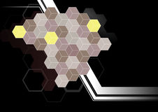 Hexagon patroonachtergrond Royalty-vrije Stock Afbeeldingen
