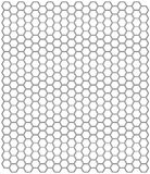 Hexagon pattern Royalty Free Stock Image