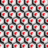 Hexagon pattern. Including seamless sample in swatch panel Royalty Free Stock Image