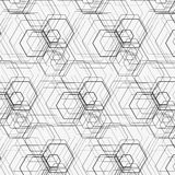 Hexagon pattern. Including seamless sample in swatch panel Royalty Free Stock Images