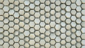 Hexagon pattern abstract 3D render. Hexagon pattern. Abstract modern background. 3D render illustration Vector Illustration
