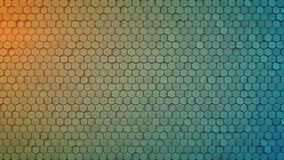 Hexagon pattern abstract 3D rendering. Hexagon pattern. Abstract geometric background. Modern 3D rendering royalty free illustration
