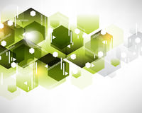Hexagon pattern background design Stock Image