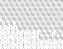 Hexagon pattern background in grey colour and line art black and white design; Modern graphic decoration element. Royalty Free Stock Images