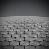 Hexagon pattern background Stock Images