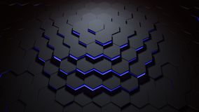 Hexagon pattern blue Stock Images
