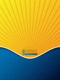 Hexagon pattern business brochure with bursting sun silhouette Stock Photo