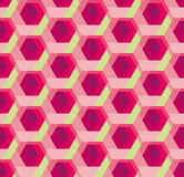 Hexagon pattern 3d illusion texture Royalty Free Stock Photos