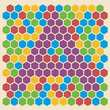 Hexagon pattern, letter A Royalty Free Stock Image