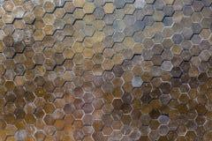 Hexagon pattern tile wall Stock Image