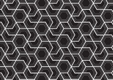 Hexagon  patterrn, repeating linear. Royalty Free Stock Photo