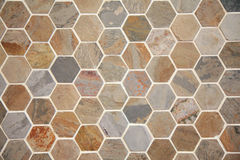 Hexagon pave. In a brown and grey tones stock photography