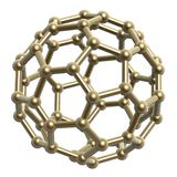 Hexagon pentagon frame ball Stock Image