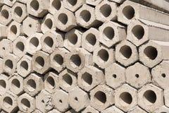 Hexagon pile Royalty Free Stock Photography