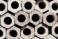 Hexagon pile Stock Images