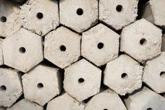 Hexagon pile Royalty Free Stock Image