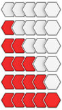 Hexagon rating set Royalty Free Stock Photos