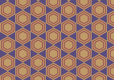 Hexagon retro abstract background Royalty Free Stock Photography