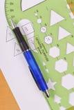Hexagon-Schablone-Messen stockfotos
