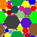 Hexagon seamless pattern Royalty Free Stock Images
