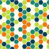 Hexagon seamless pattern Royalty Free Stock Photos