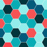 Hexagon seamless pattern Royalty Free Stock Photo