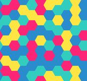 Hexagon seamless pattern. Geometric background. abstract modern tile. vector illustration. design for the background display, flyers, brochures fabric, clothes Stock Photo