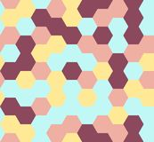 Hexagon seamless pattern. Geometric background. abstract modern tile. vector illustration. design for the background display, flyers, brochures fabric, clothes Royalty Free Stock Photos