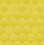 Hexagon seamless pattern with Japanese traditional design. Royalty Free Stock Photos