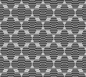 Hexagon seamless pattern with lines Stock Photography
