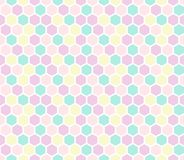 Hexagon seamless pattern in pastel colors. Vector backdrop. Good for print royalty free illustration