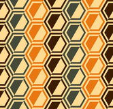 Hexagon seamless pattern - retro colors - vector. Colorful hexagon modern seamless pattern illustration, with retro colors, VECTOR FORMAT AVAILABLE royalty free illustration