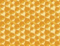 Hexagon seamless vector background. Royalty Free Stock Photo