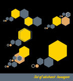 Abstract Hexagon set. Vector illustration. Stock Images