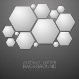 Hexagon shape abstract background Stock Images