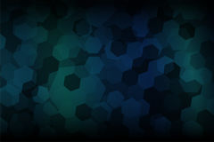 Hexagon shape abstract with dark blue and dark green gradient background. Hexagon shape abstract with dark blue and dark green gradient shading background vector illustration