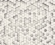 Hexagon shape pattern white wall. Background. 3D rendering Royalty Free Stock Image