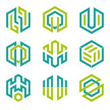 Hexagon shaped design elements 3 Royalty Free Stock Photos