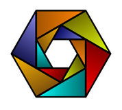 hexagon shaped  icon Stock Images