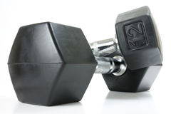 Hexagon Shaped Weight Set Royalty Free Stock Images
