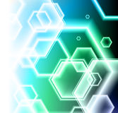 Hexagon Shapes on Colorful Abstract Background Stock Photos