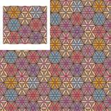 Hexagon six petal flower change seamless pattern Royalty Free Stock Photos