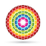 Hexagon Sphere Royalty Free Stock Photo