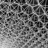 Hexagon stainless truss structure pattern Stock Photos