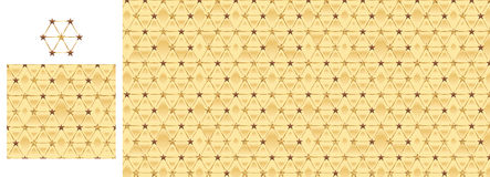 Hexagon star chocolate golden glitter seamless pattern Royalty Free Stock Photo