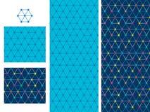 Hexagon star decor seamless pattern Royalty Free Stock Photos