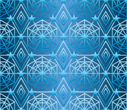 Hexagon star many line blue seamless pattern Stock Image